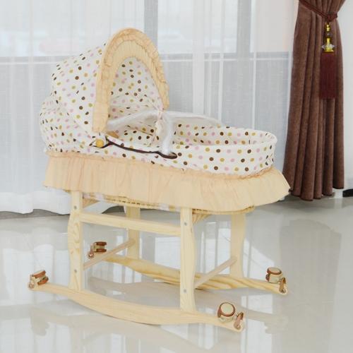 Многофункциональный портативный детский колыбель Bassinet Bed Новорожденный ребенок Спящая корзина для путешествий Crib Yellow