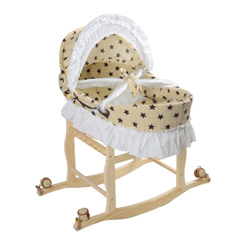 Multifunctional Lengthen Portable Baby Cradle Bassinet Bed Newborn Baby Sleeping Travel Basket Crib Star