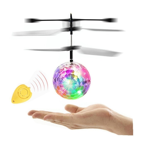 El avión de inducción infrarrojo electrónico de las bolas de vuelo juega el mini helicóptero de la luz del LED con teledirigido para los niños