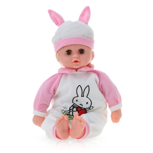 45cm/17.7in Talking Singing Baby Doll Reborn Doll Play House Toys Gift With Syringe Stethoscope