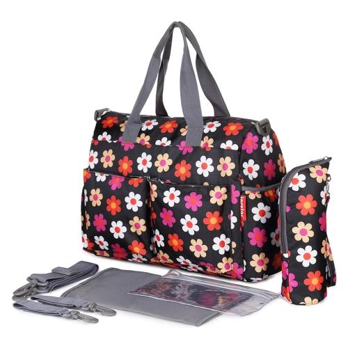 Insular Baby-Windel-Beutel-Handtaschen-große Kapazitäts-Mama-Windel-Krankenpflege-Beutel-Reise für Baby-Sorgfalt-Blüte