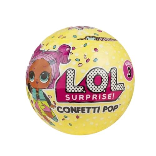 1Pcs LOL Surpresa! Confetti Pop-Series 3-Wave 1 Unwrapping Toy 9Cm
