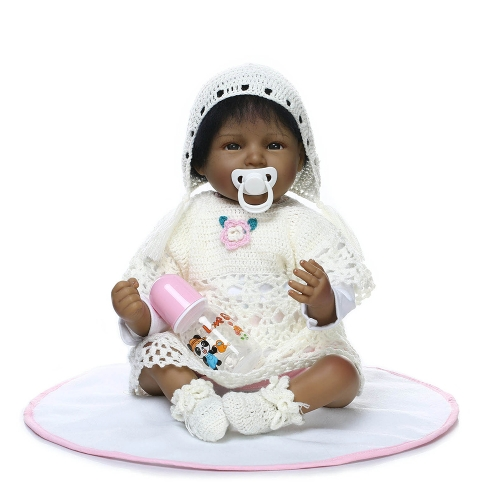 22inch Girl Soft Body Silicona Realistic Baby Doll Play House Game Toys