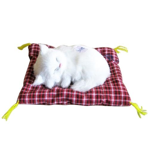 Прекрасный симулятор Мягкий спальный кот со звуковыми детьми Плюшевый фаршированный подарок на день рождения игрушек