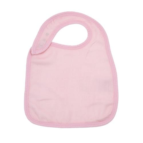 Baby Snap Bib 100% Органический бамбуковый муслин Мягкий абсорбирующий 3 слоя Регулируемые нагрудники для новорожденных Baby Baby Pink