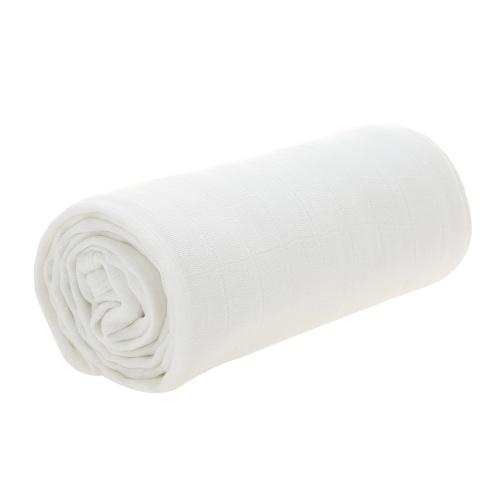 Одеяло младенца малыша 4 слоя 100% Bamboo одеяло волокна для кровати Коляска Детская кроватка Уход за телом 53 * 40 дюймов Белый