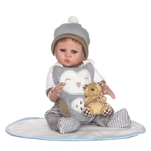 20in Reborn Baby Rebirth Doll Kids Gift All-Silica Gel Boy