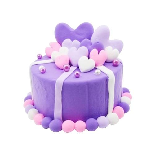 Экологический светлый глиняный ручной торт Kit Красочные моделирование глины DIY Craft Мягкие игрушки подарок детям