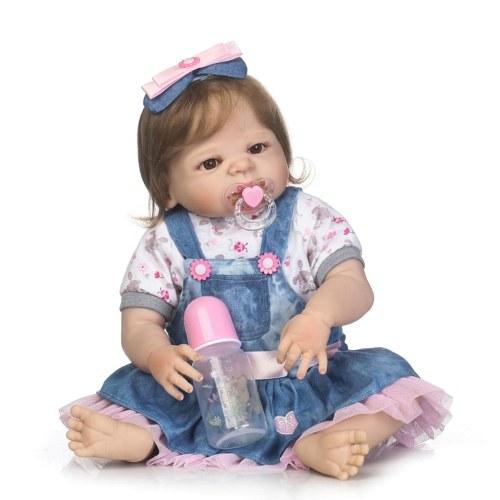 22in Reborn Baby Rebirth Doll Kids Gift Все силиконовые гель-девушки