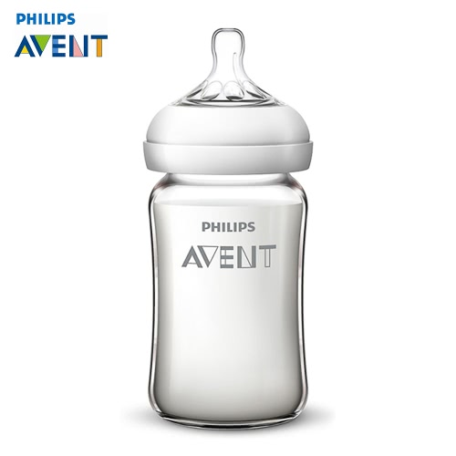 PHILIPS AVENT Wide Neck Opening Natural Glass Bottle 240ml