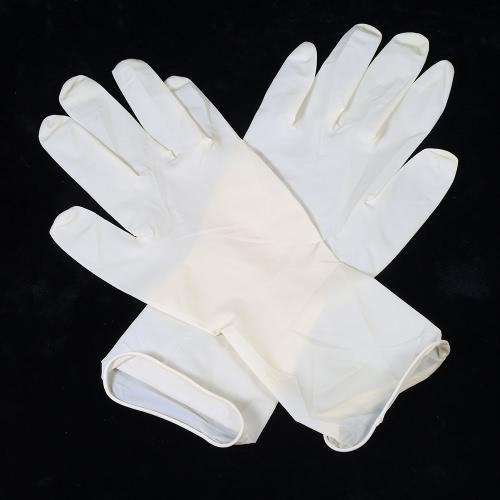 Decdeal guantes de látex de eliminación de 100PCS en polvo guantes de examen médico gratis