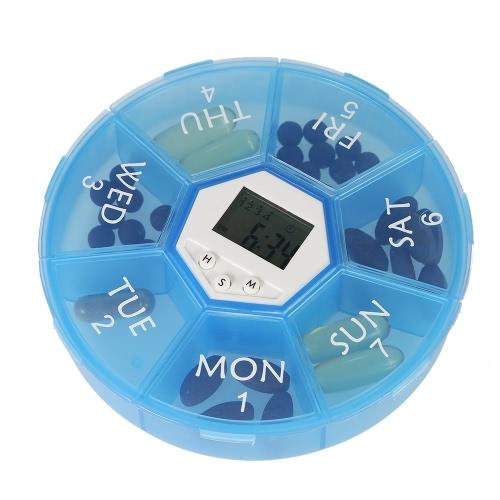 Decdeal Smart Timing Reminder Pill Box - чистая и простая в хранении таблеток