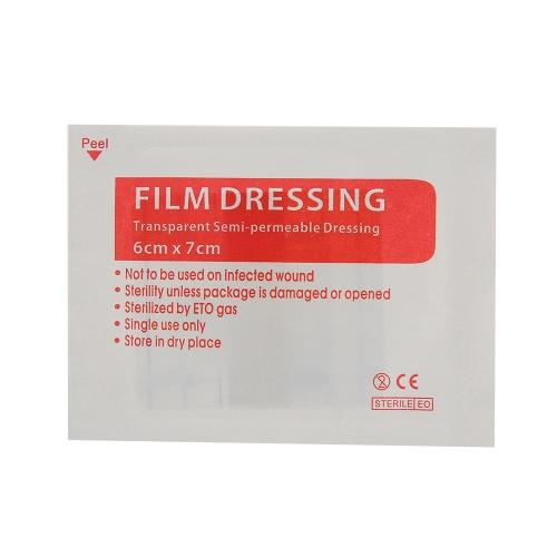 30PCS透明フィルムドレッシング防水滅菌接着包帯パッド応急処置用品