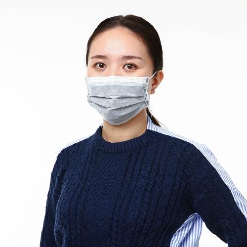 Carevas 50PCS Earloop Disposal Face Mask 4-слойный нетканый активированный угольный фильтр