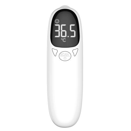 Infrarot-Thermometer Stirnthermometer 32 Datenspeicherung Berührungslose Thermometer mit hintergrundbeleuchtetem LED-Fieberalarm-Stummschaltmodus ℃ / ℉ Hochpräzises Handtemperaturmessgerät für Erwachsene