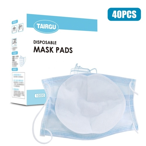 TOMTOP / 40Pcs Disposable Face Masks Filter Pad 3 Layers Breathable Filter Protective Filter Mouth Mask Replacement Pad for Adult Kids