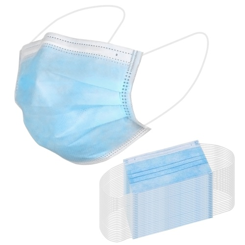 50pcs 3-Ply Disposable Protective Face Masks Breathable Waterproof Sanitary Mouth Mask