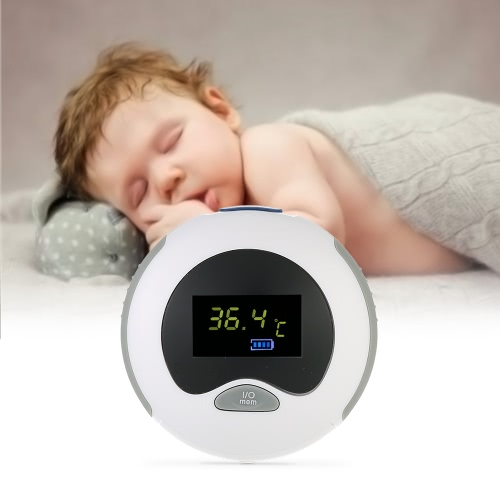 Portable Baby Ear Thermometer IR Infrared Measurement Data Hold Fever Alarm Fahrenheit & Celsius With LCD Display for Baby   Child