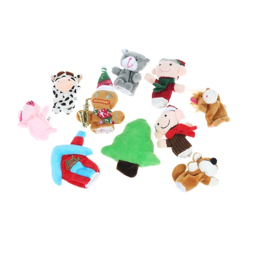 Finger Puppets The Gingerbread Man Story Time Educational Puppet Set Fairy Tale for Children Shows Playtime Schools 10Pcs
