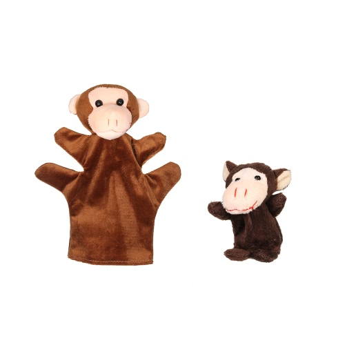 Animals Hand Puppets Finger Puppets Story Time Educational Puppet Set Cartoon Animals Mother Baby for Children Shows Playtime Schools 2Pcs Dog