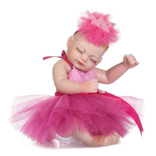 NPKCOLLECTION 10in Reborn Baby Rebirth Doll Kids Gift Rose Red