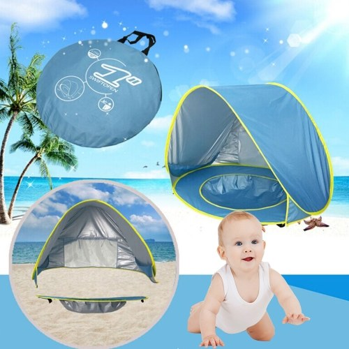 Image of Baby-Strand-Zelt UV-Schutz Sunshelter mit Pool Wasserdicht Pop Up Markise Zelt