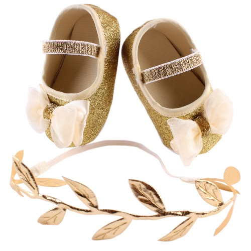Unique Baby Girl Cute Flower Bowknot Shoes Sneaker Anti-slip Comfortable Soft Toddler Shoes