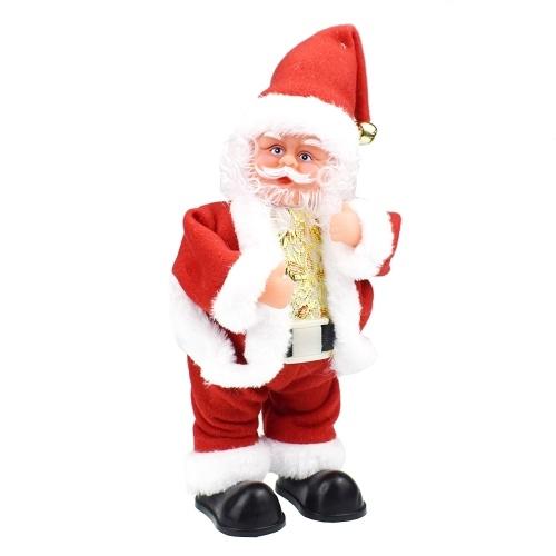 Санта-Клаус, встряхивающий танец и спеть рождественские песни