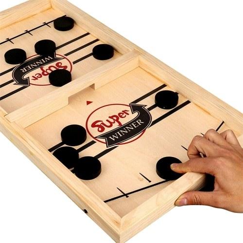 Jeu de hockey aux échecs rebondissant Jeu de société Slingshot Jeu interactif parent-enfant Jeux de bureau à 2 joueurs Jeu de table Jeu de fête en salle