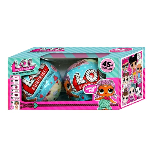 2Pcs Ball Toy Outrageous 7 Layers Surprise Ball Set Egg Doll Blind Mystery