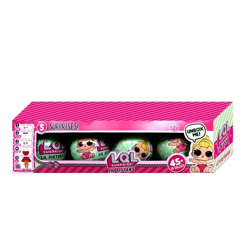 4 pcs Surprise Egg Doll Toy Lil Sisters Series 2
