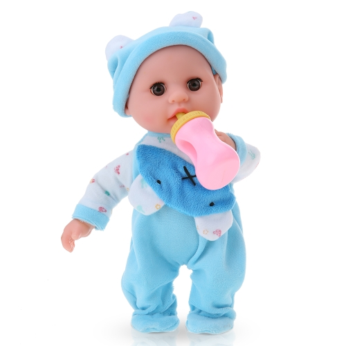 Talking Recording Baby Doll Language learning Reborn Touch Doll 30cm