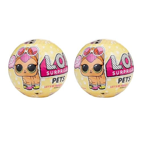 2Pcs L.O.L Egg Doll Toy  Mystery Baby Pets