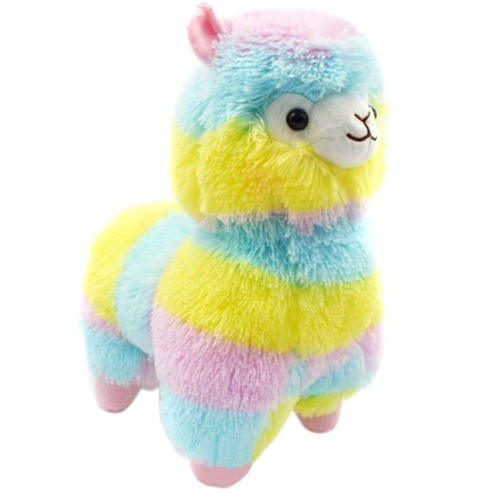 Little Cute Rainbow Sheep Alpaca Stuffed Animals Doll 18Cm