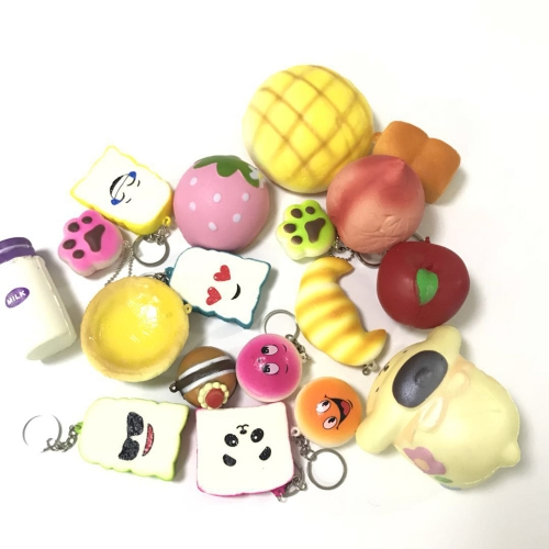 15Pcs Slow Rising Squishy Scented Soft Panda Bread Cake toy