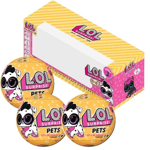 3Pcs LOL Surprise Pets Series 3 Wave 2 с упаковочной коробкой
