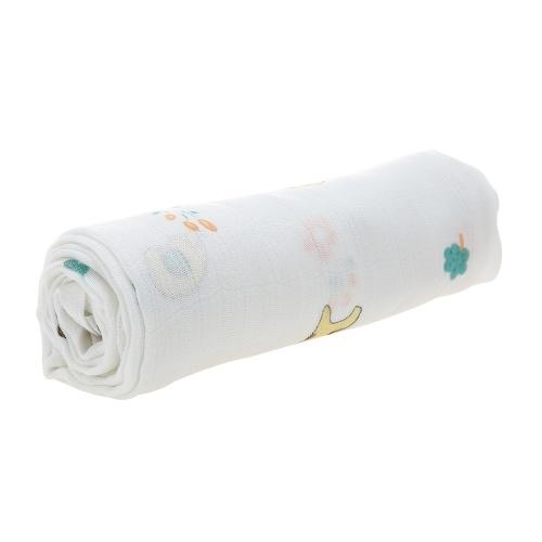 Bébé Toddler Couverture 100% Oranic Bambou Mousseline 2 Layer Couverture 53 * 40 pouces Pour Lit Poussette Crib Car Nursing Cover Blanc