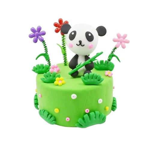 Umwelt Licht Ton Handgemachte Kuchen Kit Bunte Modellierung Ton DIY Handwerk Weiche Kinder Geschenk Spielzeug
