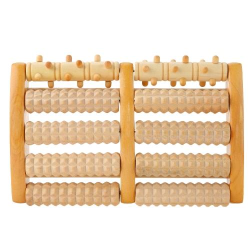 Los rodillos de masaje de pie de madera aceleran la tensión de la tensión arterial, la fatiga, el músculo y el dolor del talón, la fascitis plantar