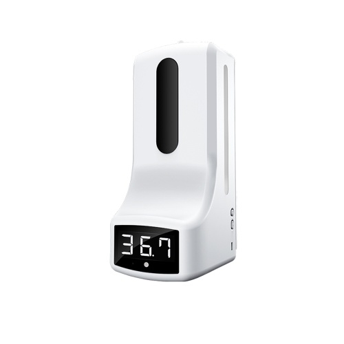 Wall Mounted Thermometer with Automatic Hand Soap Dispenser  Automatic Temperature Measurement with Alarm