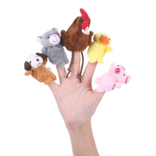 Finger Puppets Story Time Educational Puppet Set Cartoon Fairy Tale Puppets Set for Children Shows Playtime Schools Farmer and Animals