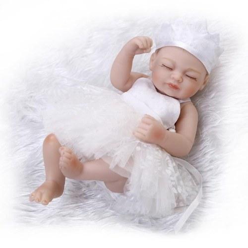 NPKCOLLECTION 10in Reborn Baby Rebirth Doll Kids Gift White