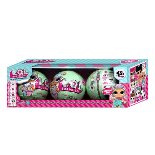 3Pcs Ball Toy Outrageous 7 Layers Surprise Ball Set Egg Doll Blind Mystery