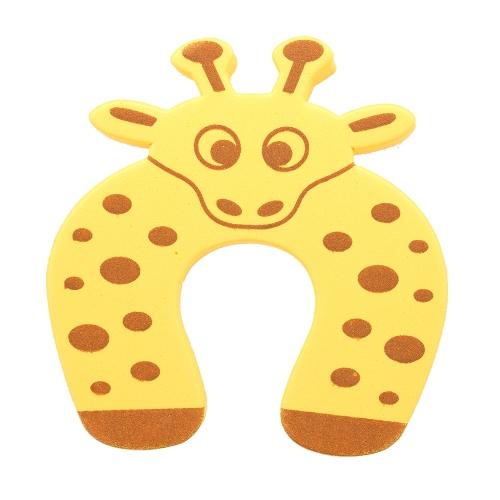 Мультфильм животных Пена Дверь Пробка Защитный чехол Держатель Блокировка Защитный чехол для детей Дети Baby Желтый Коала