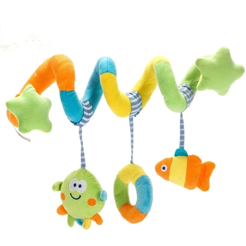 Baby Crib Educational Plush Animal Toy Revolve Playing Crib Bedding Hanging Rattle Beneficial Toy