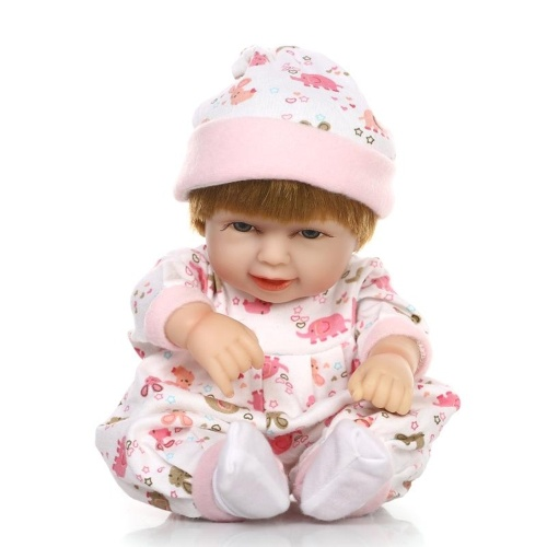 10in Reborn Baby Rebirth Doll Kids Gift Pink Bag All Silica Gel Girl