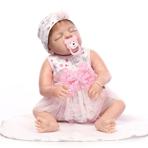 22in Reborn Doll Rebirth Baby Kids Подарок All-Silica Gel Girl