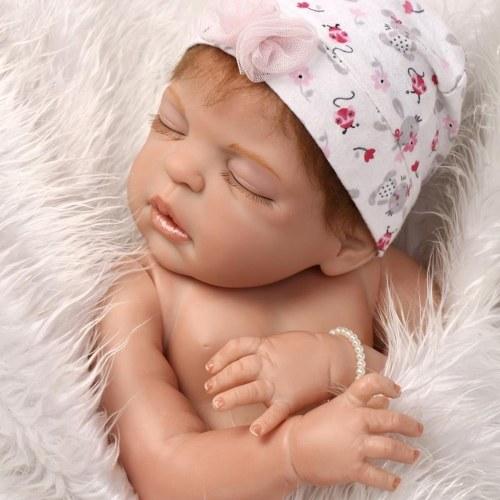 22in Reborn Doll Rebirth Baby Kids Gift All-Silica Gel Girl