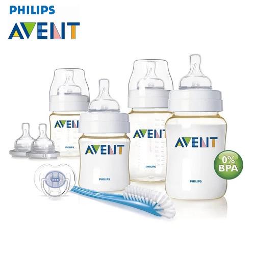 PHILIPS AVENT Bottles Nipples Pacifier Bottle Brush Newborn Starter Set