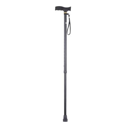 Höhenverstellbarer Aluminium-Cane Leichter Walking-Stick mit T-Griff Anti-Slide rechts oder links Hand verwenden